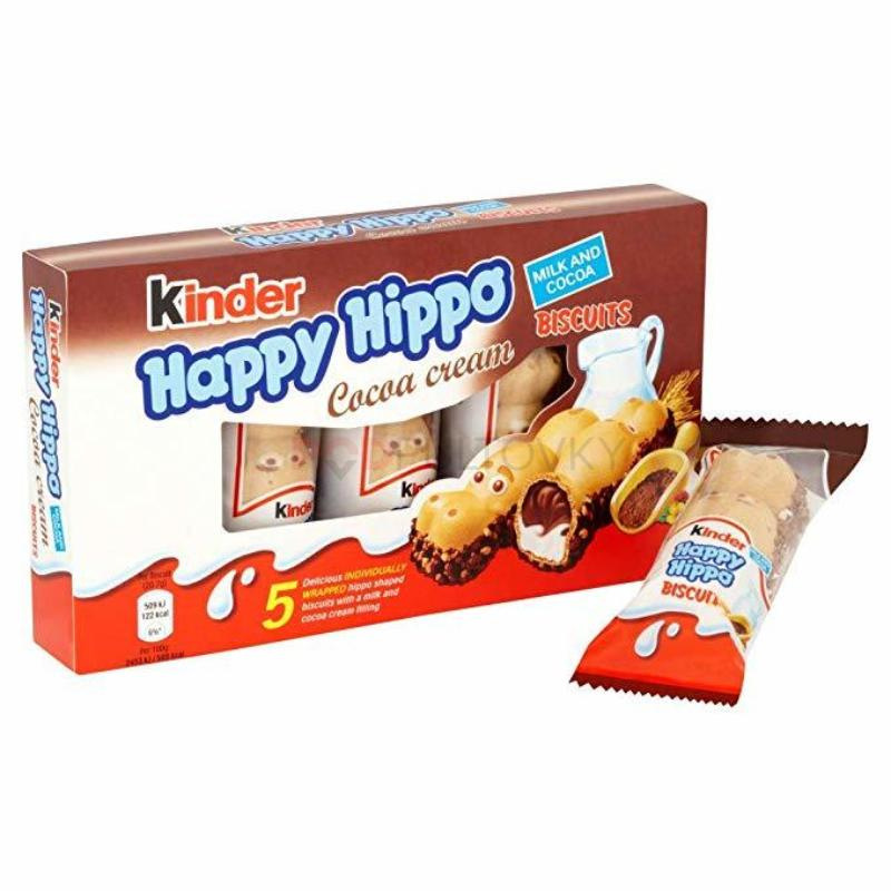 Kinder Happy Hippo Cocoa Cream Biscuits 103g (UK)