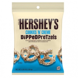 Hershey's Cookies'n'Creme Dipped Pretzels 120g (USA) DMT 31.1.2021!