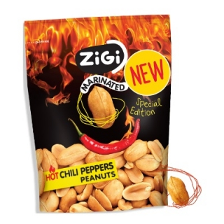 ZiGi Hot Chili Peppers Marinated Peanuts 70g (CZ)