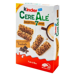 Kinder CereAlé Biscotti Fondente 204g (IT)  DMT 25.8.2020!