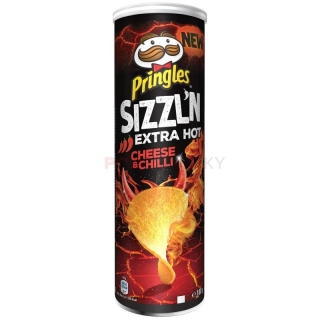 Pringles Sizzl'n Extra Hot Cheese & Chilli 180g (DE)