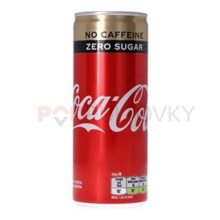 Coca Cola Zero No Caffeine 250ml (NL)