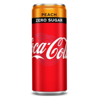 Coca Cola Zero Peach 250ml (BE)