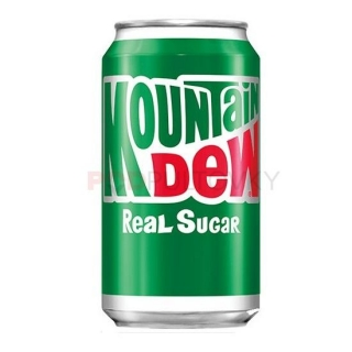 Mountain Dew Real Sugar 355ml (USA)