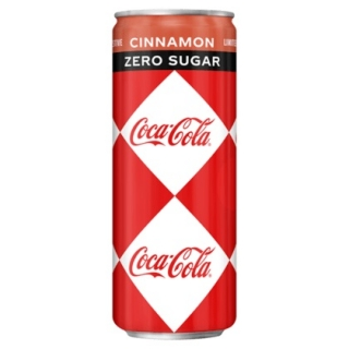 Coca Cola Zero Cinnamon 250ml (BE)